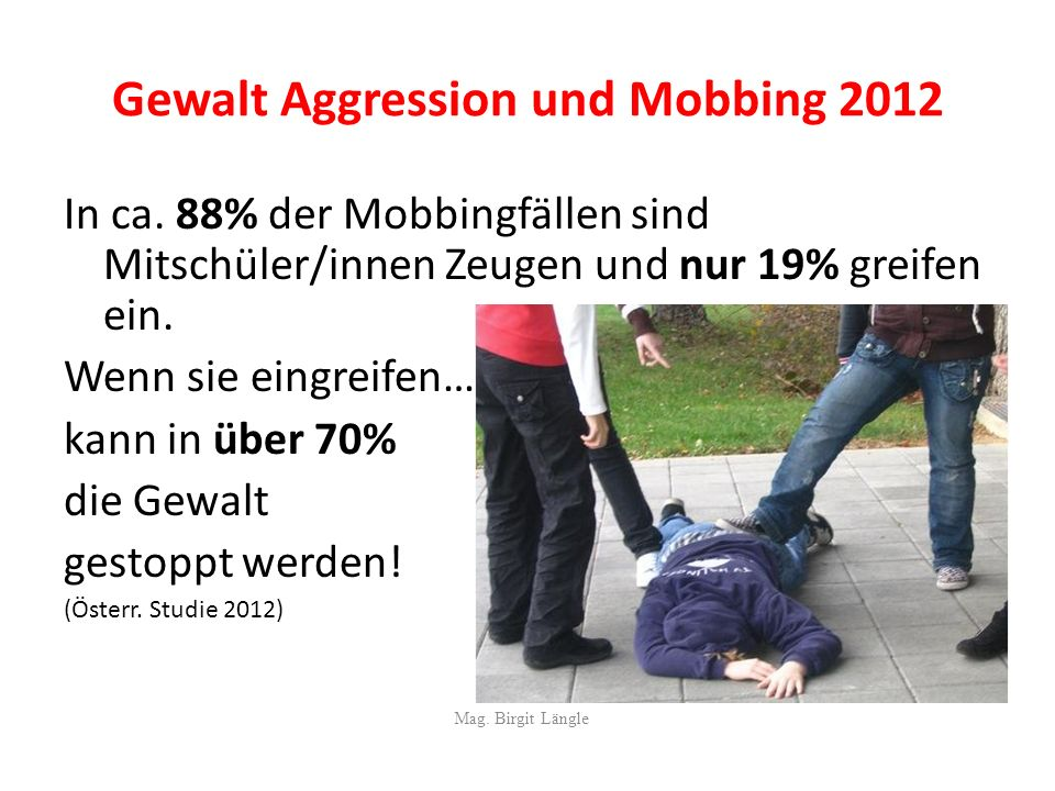 Gewalt Aggression und Mobbing 2012
