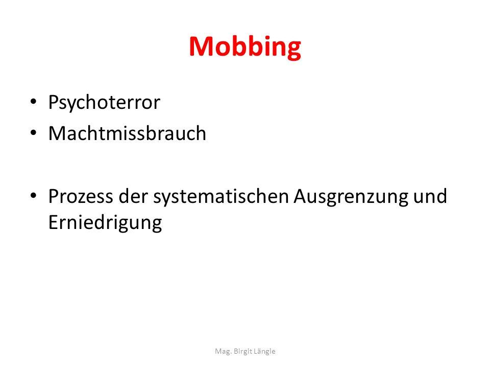 Mobbing Psychoterror Machtmissbrauch