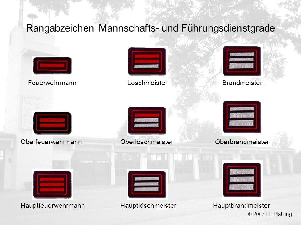 Rangabzeichen Mannschafts- und Führungsdienstgrade