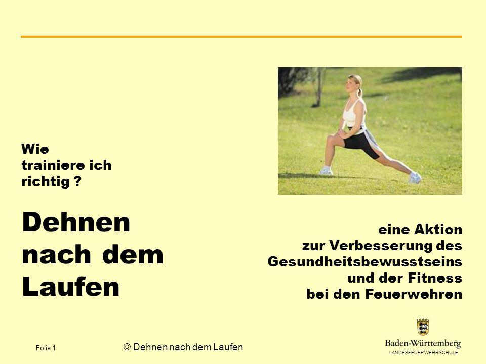 © Dehnen nach dem Laufen