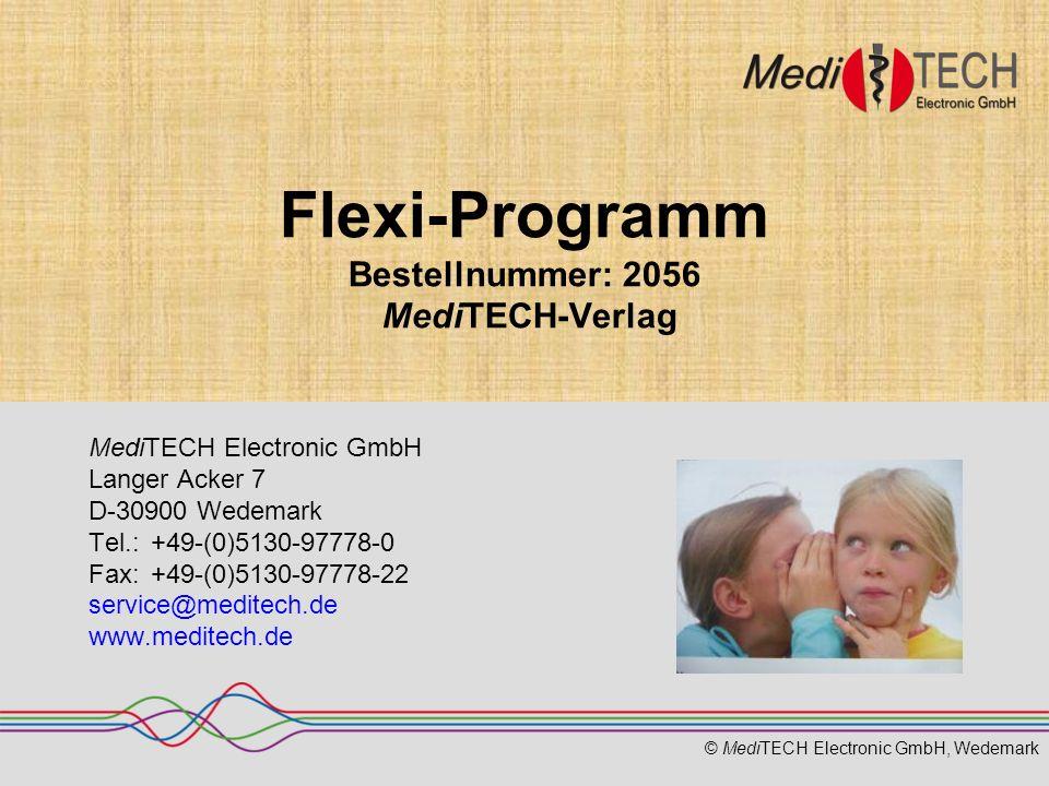 Flexi-Programm Bestellnummer: 2056 MediTECH-Verlag