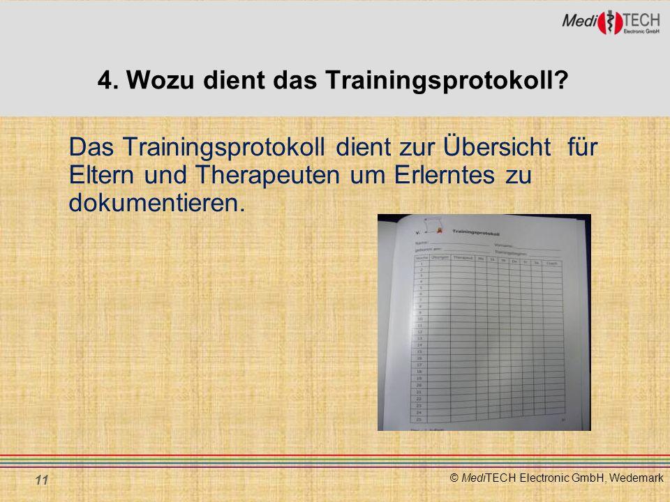 4. Wozu dient das Trainingsprotokoll