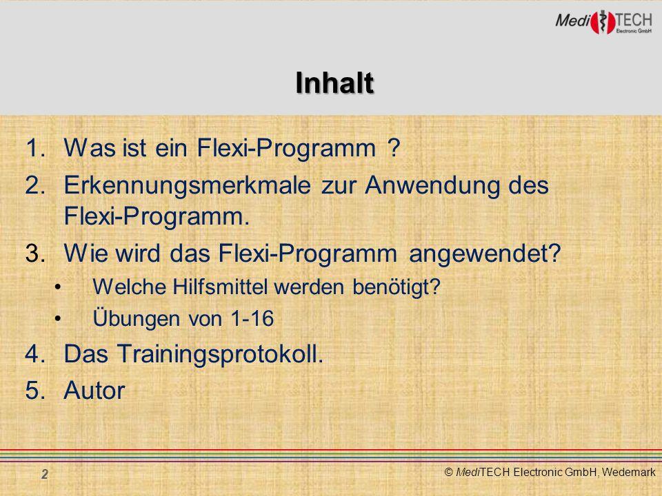 Inhalt 1. Was ist ein Flexi-Programm