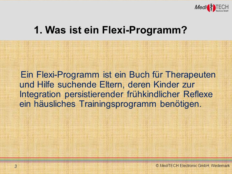 1. Was ist ein Flexi-Programm