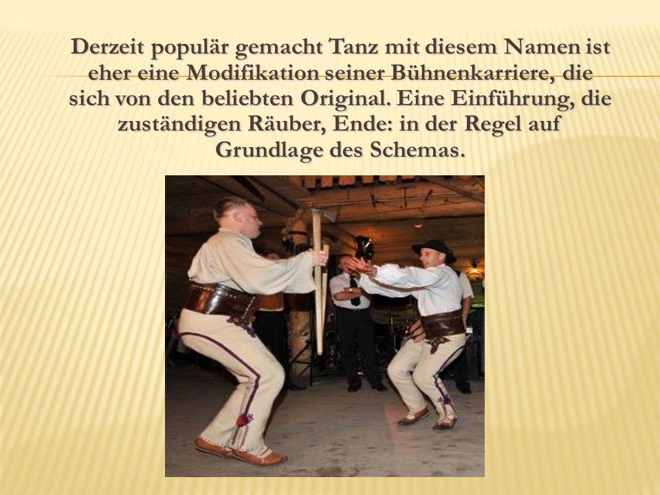 Derzeit populär gemacht Tanz mit diesem Namen ist eher eine Modifikation seiner Bühnenkarriere, die sich von den beliebten Original.