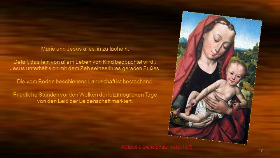 Marie und Jesus alles, in zu lächeln.