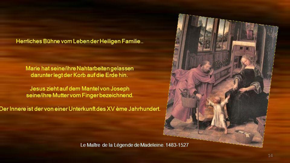 Herrliches Bühne vom Leben der Heiligen Familie..