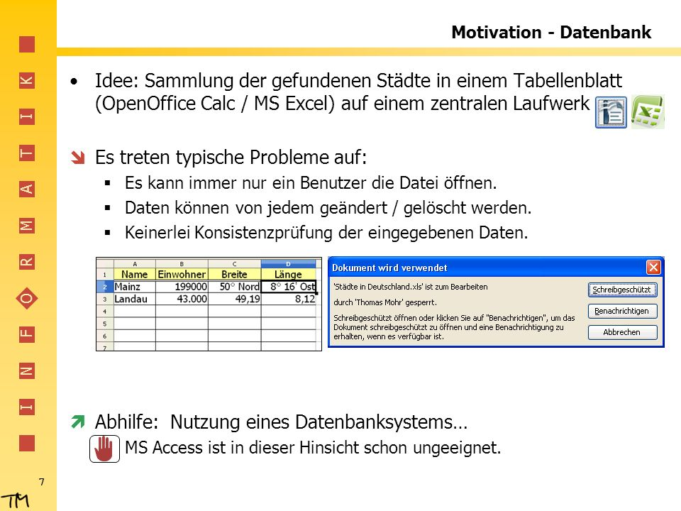 Motivation - Datenbank