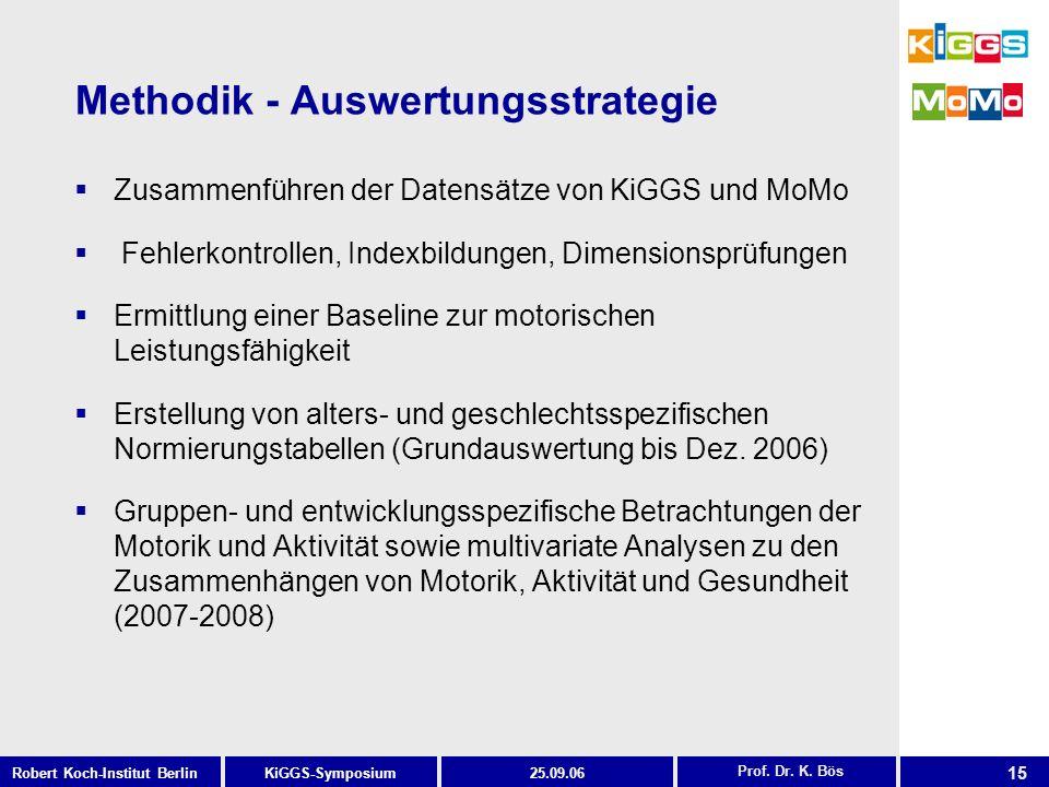 Methodik - Auswertungsstrategie