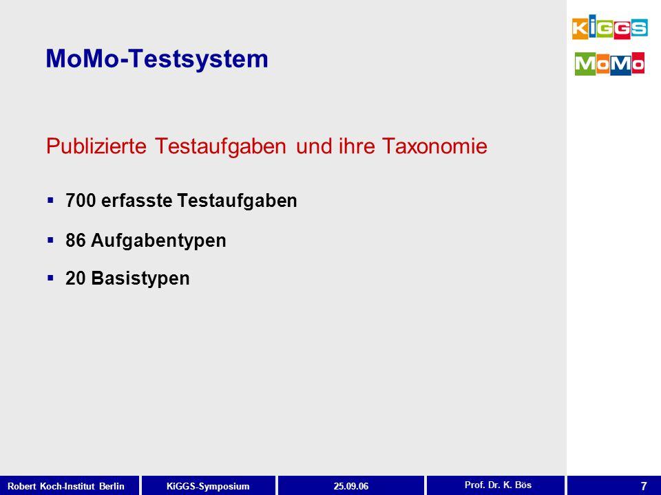 MoMo-Testsystem Publizierte Testaufgaben und ihre Taxonomie