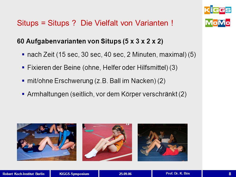 Situps = Situps Die Vielfalt von Varianten !