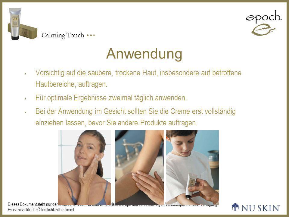 Anwendung Vorsichtig auf die saubere, trockene Haut, insbesondere auf betroffene Hautbereiche, auftragen.