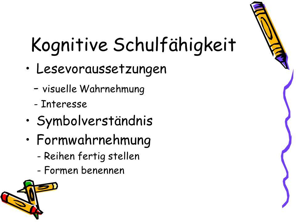 Kognitive Schulfähigkeit