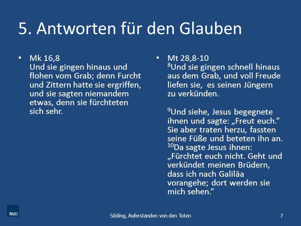 5. Antworten für den Glauben
