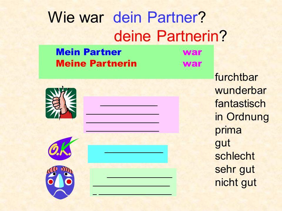 Wie war dein Partner deine Partnerin