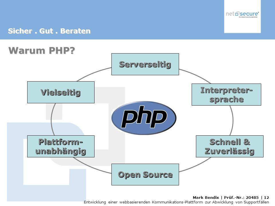 Warum PHP Serverseitig Vielseitig Interpreter- sprache Plattform-