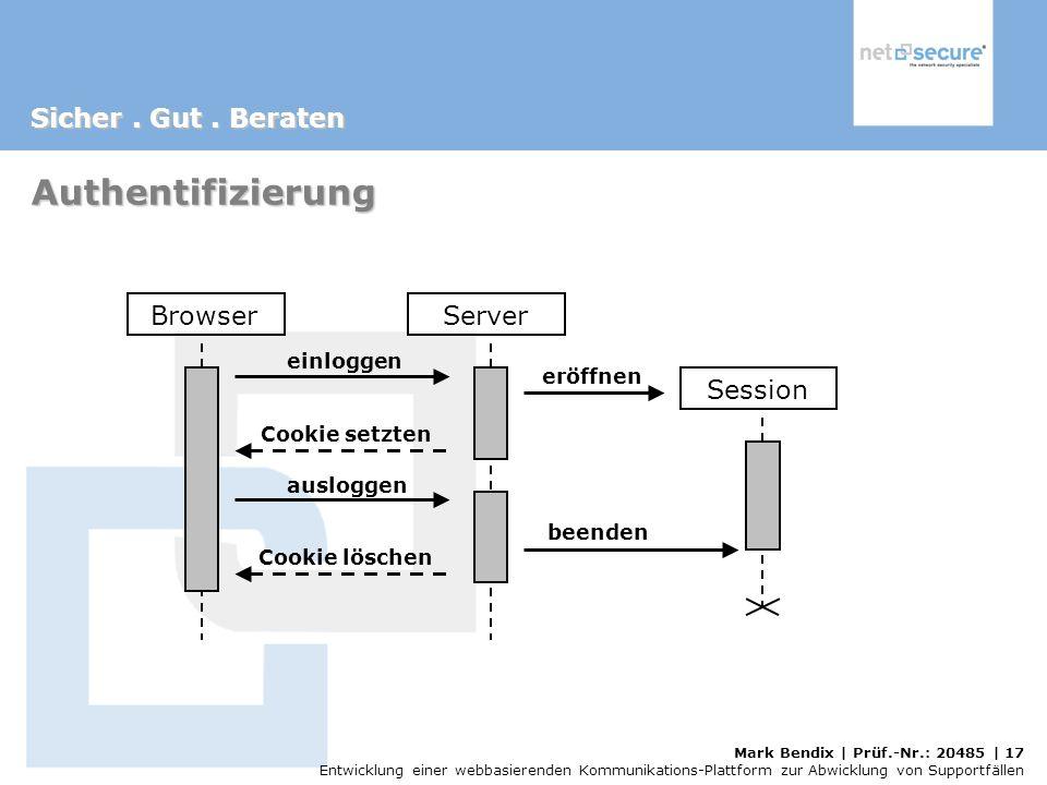 Authentifizierung Browser Server Session einloggen eröffnen