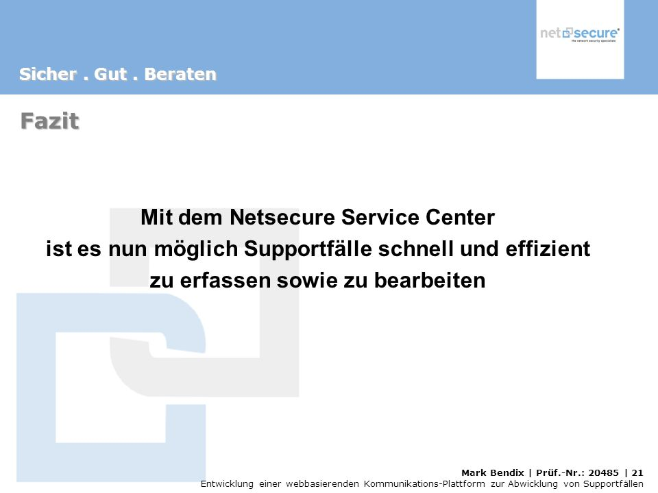Mit dem Netsecure Service Center