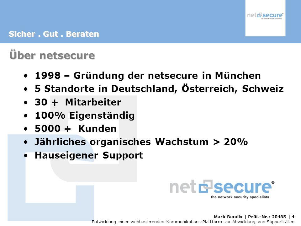 Über netsecure 1998 – Gründung der netsecure in München