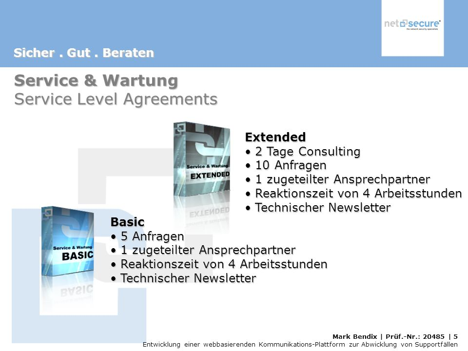 Service & Wartung Service Level Agreements