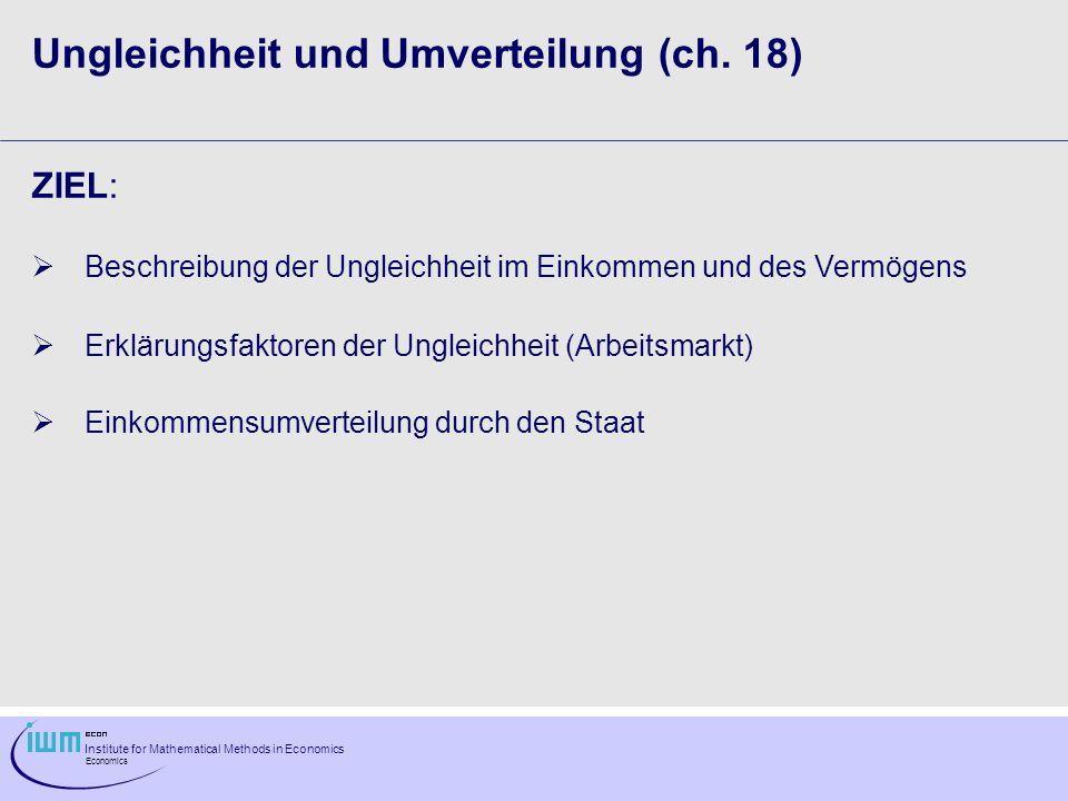 Ungleichheit und Umverteilung (ch. 18)