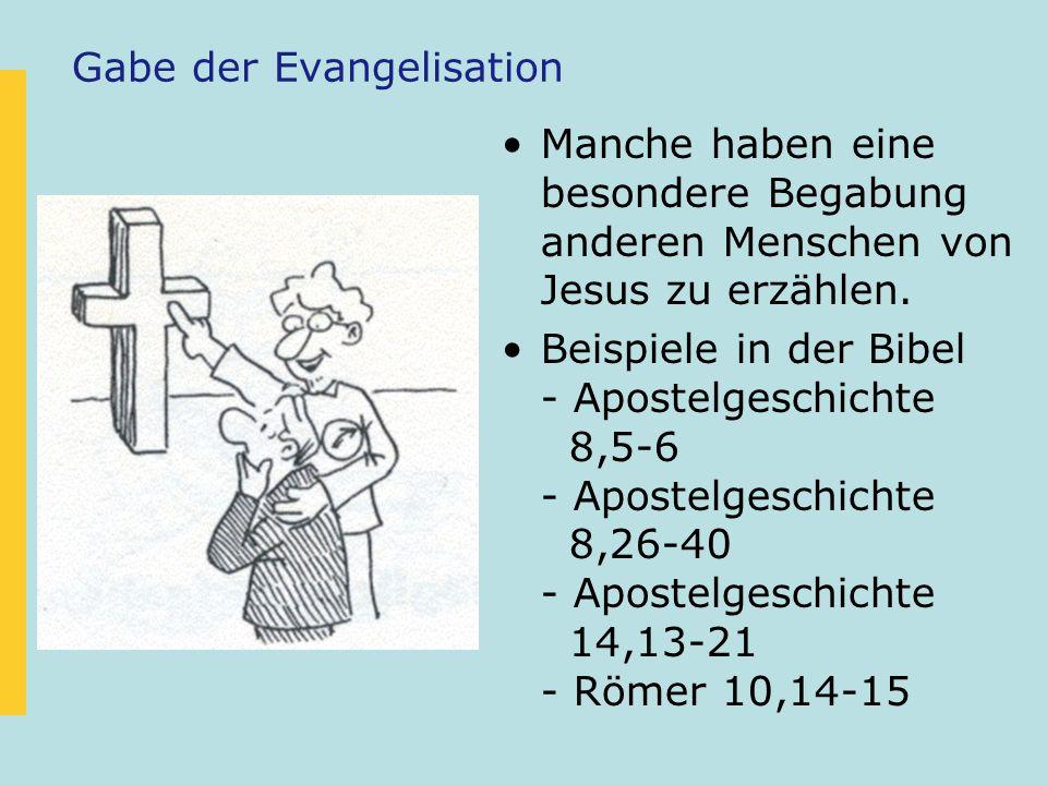 Gabe der Evangelisation