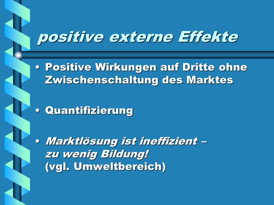 positive externe Effekte