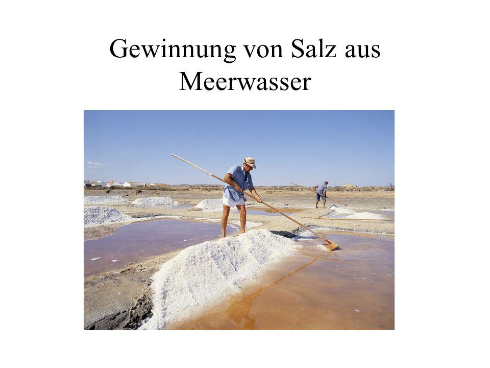 Gewinnung von Salz aus Meerwasser