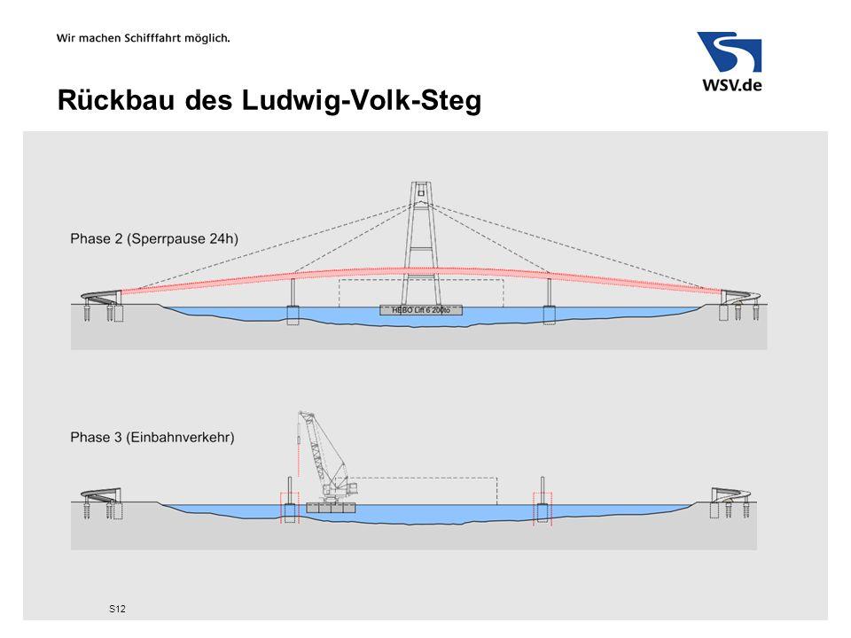 Rückbau des Ludwig-Volk-Steg