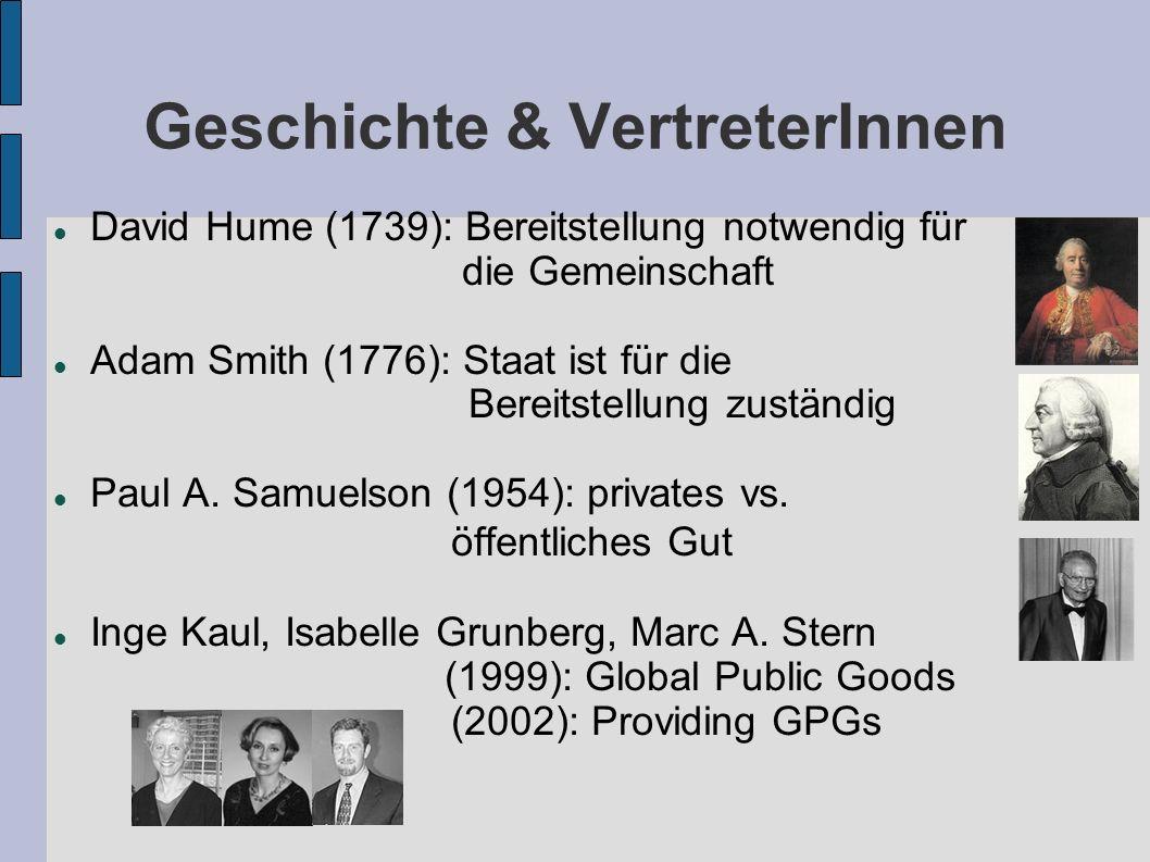 Geschichte & VertreterInnen