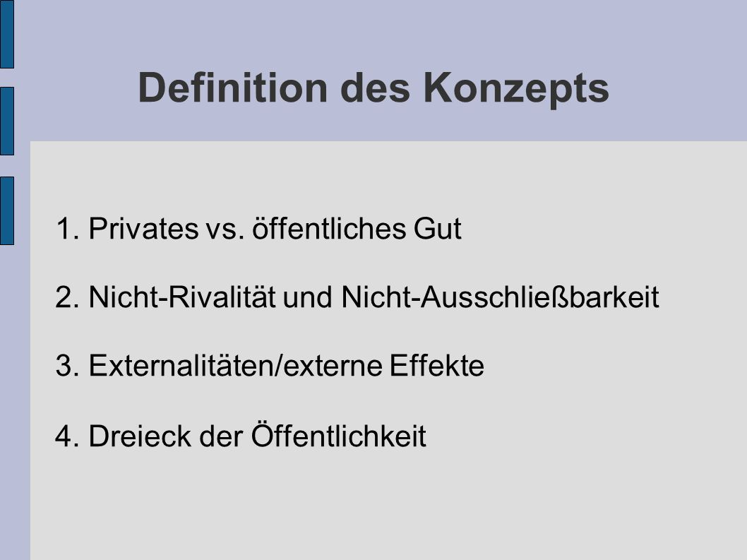 Definition des Konzepts