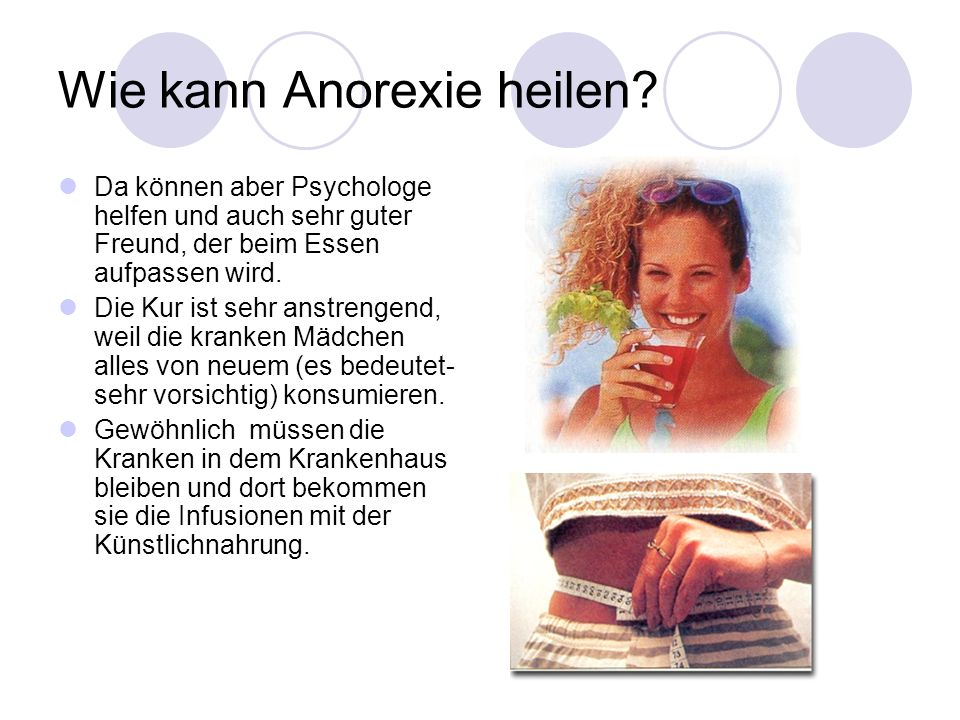 Wie kann Anorexie heilen