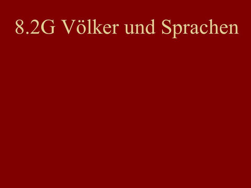 8.2G Völker und Sprachen