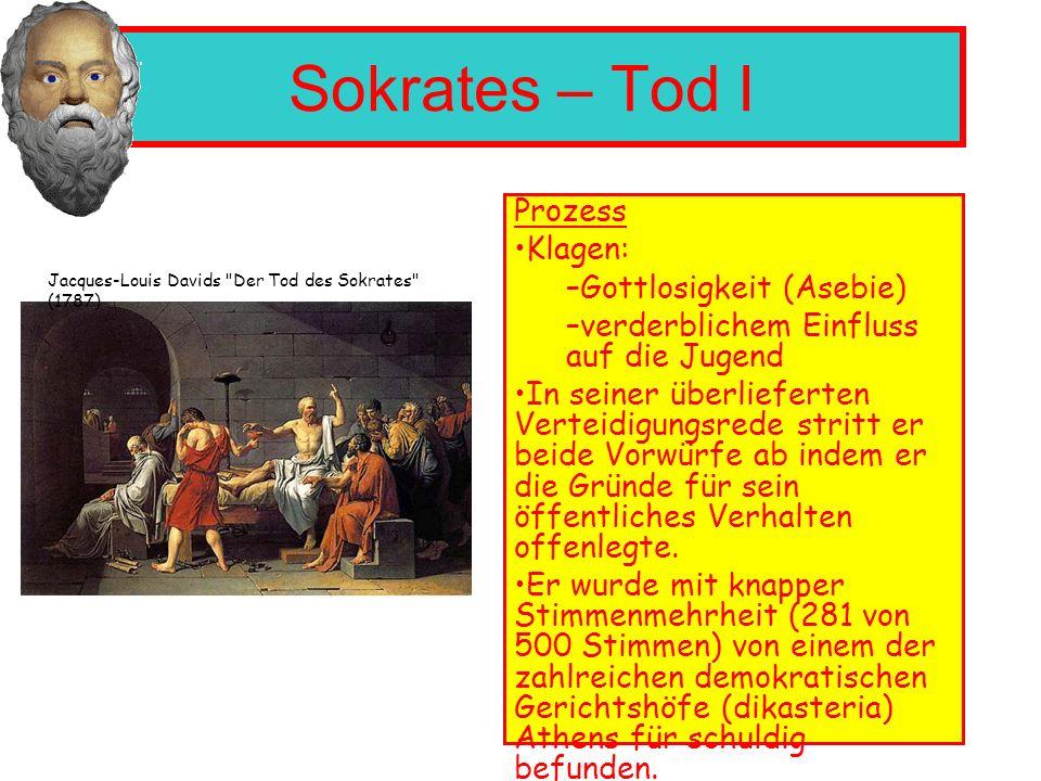 Sokrates – Tod I Prozess Klagen: Gottlosigkeit (Asebie)