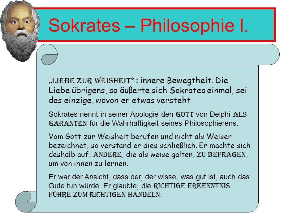 Sokrates – Philosophie I.