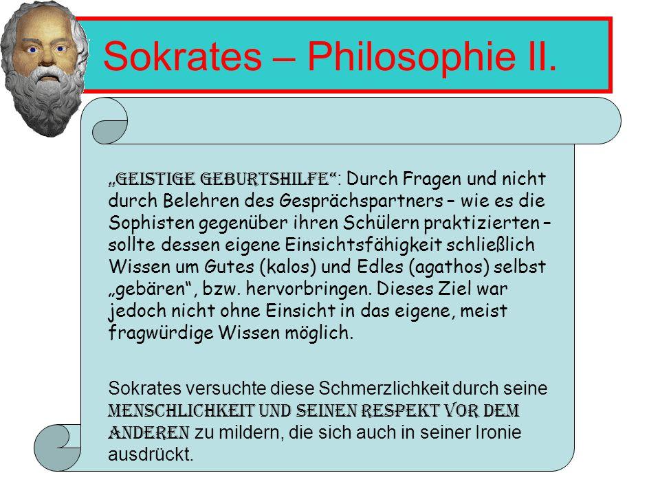 Sokrates – Philosophie II.