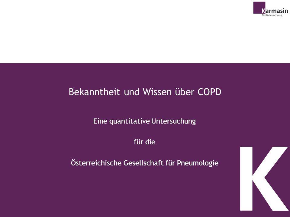 Bekanntheit und Wissen über COPD