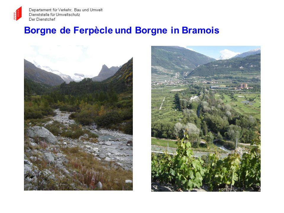 Borgne de Ferpècle und Borgne in Bramois