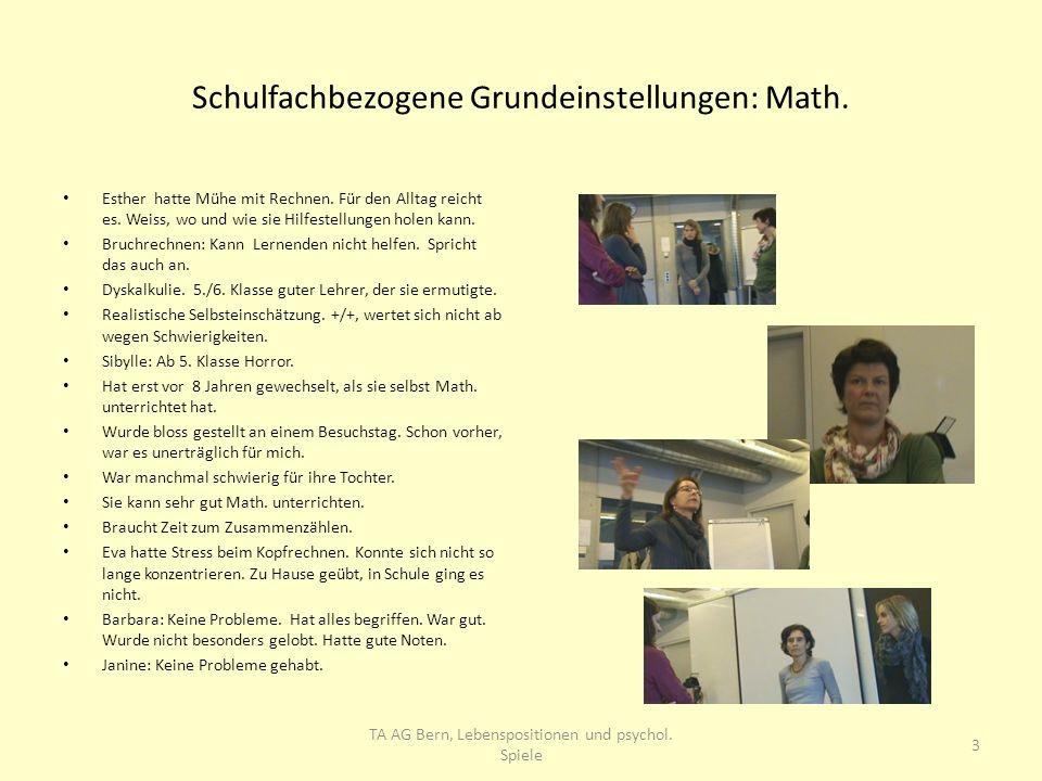 Schulfachbezogene Grundeinstellungen: Math.