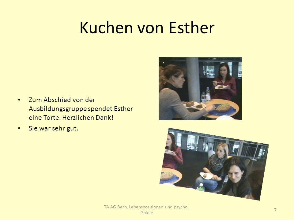 TA AG Bern, Lebenspositionen und psychol. Spiele
