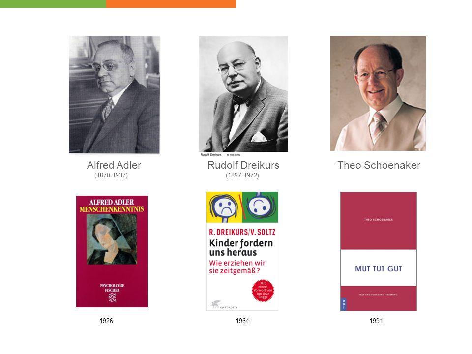 Alfred Adler Rudolf Dreikurs Theo Schoenaker (1870-1937) 1926