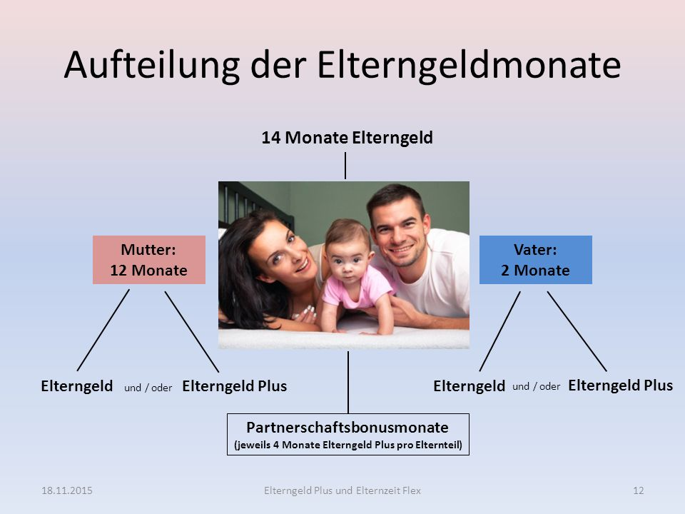 Aufteilung der Elterngeldmonate