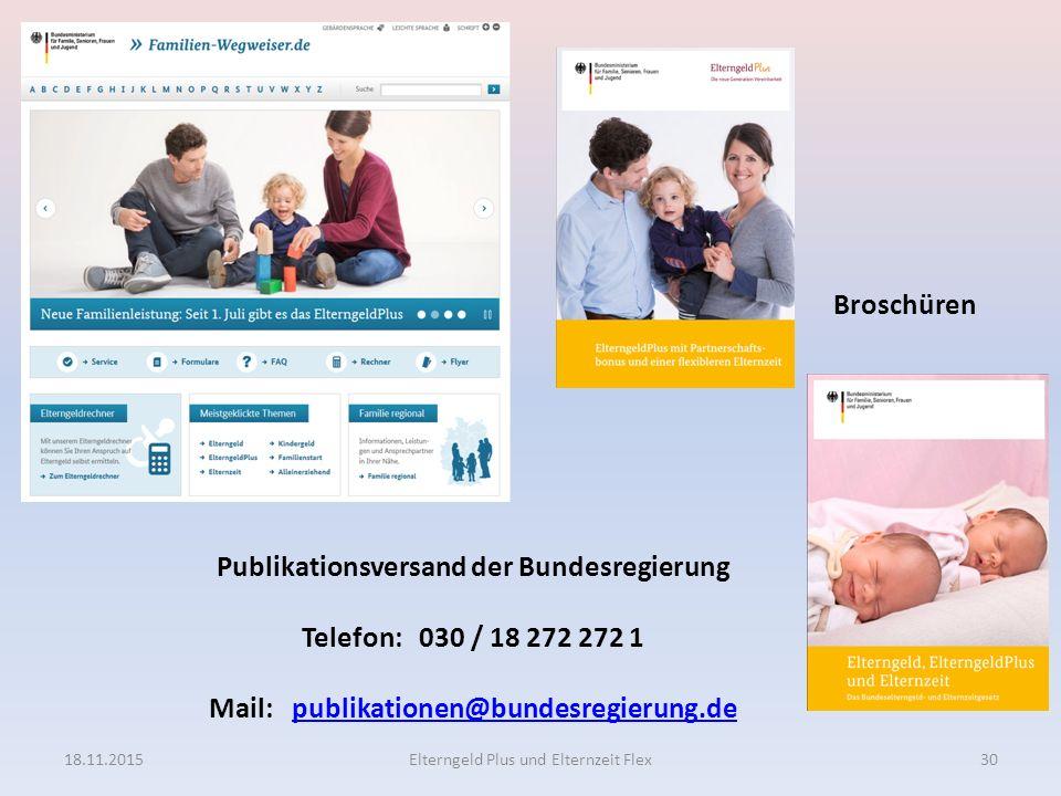 Publikationsversand der Bundesregierung Telefon: 030 / 18 272 272 1