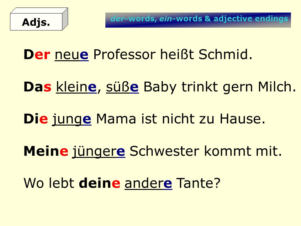 Der neue Professor heißt Schmid.