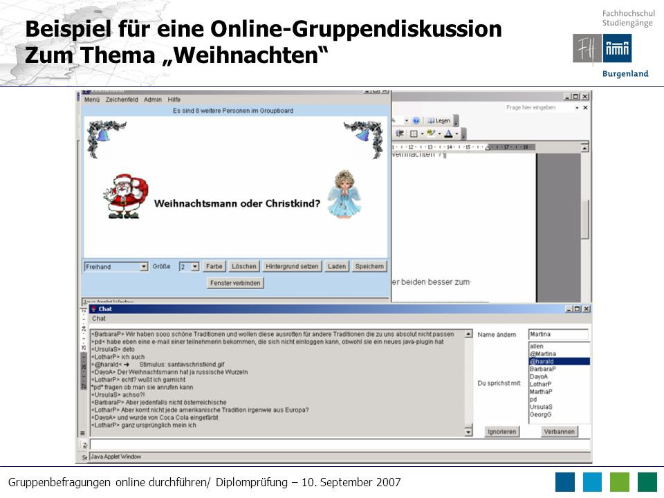 Beispiel für eine Online-Gruppendiskussion