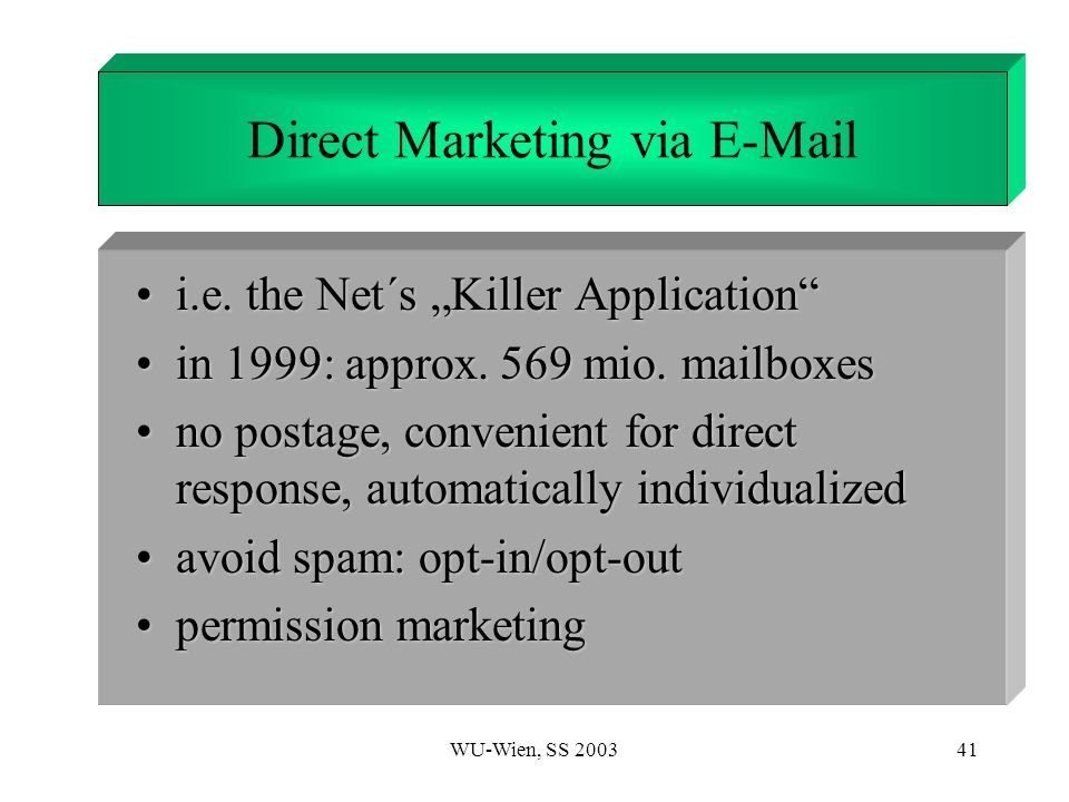 Direct Marketing via