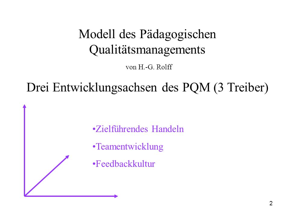 Modell des Pädagogischen Qualitätsmanagements von H.-G. Rolff