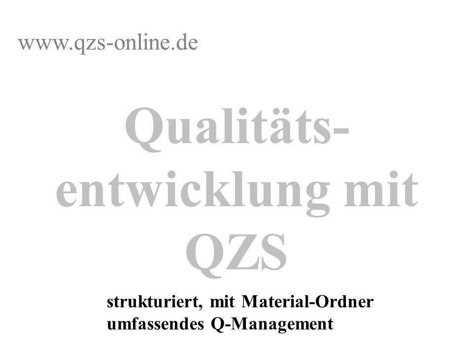 Qualitäts-entwicklung mit QZS