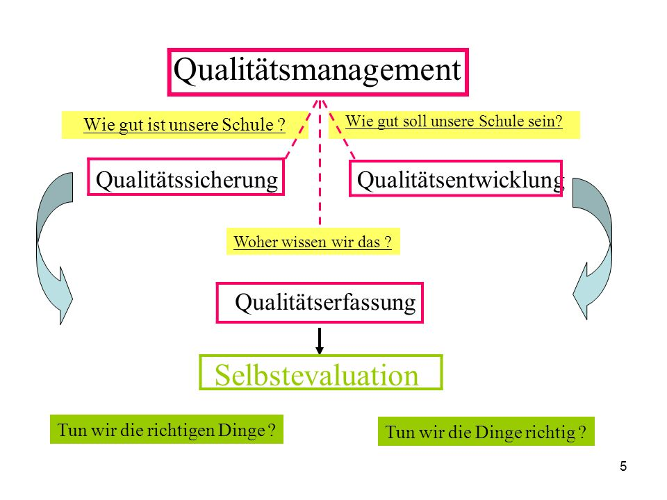 Qualitätsmanagement Selbstevaluation Qualitätssicherung