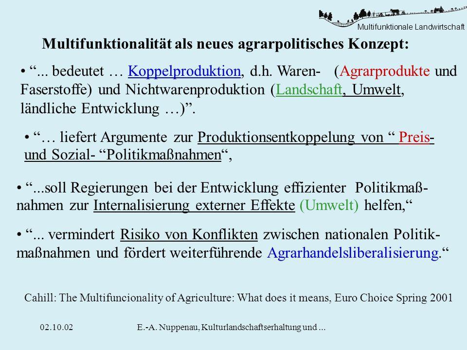 Multifunktionalität als neues agrarpolitisches Konzept: